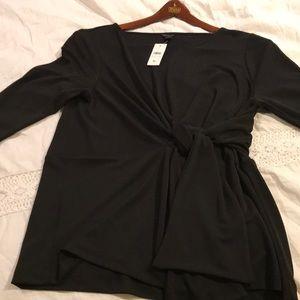 Ann Taylor black long sleeve dress shirt